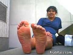 Ugly Arab Girl With Nice But Smelly Feet