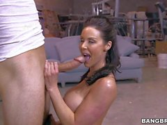 Busty MILF Kendra Lust with killer body sucks and fucks