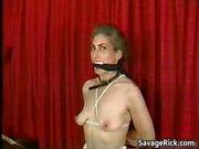 Kinky MILF is sex slave in weird bondage part3
