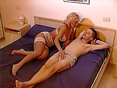 Horny Blonde Mom And Young Boy