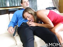 Juicy pussy of older hottie is roughly group-fucked