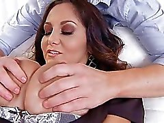 Huge boobs mature MILF learns to talk dirty at her shrink