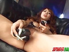 Asian amateur masturbating