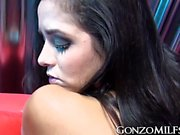 Amazingly hot MILF Abby Lee Brazil swallows a thick pike