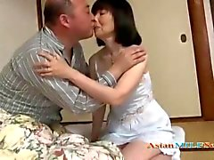 Mature Asian woman getting her pussy licked and drilled hard