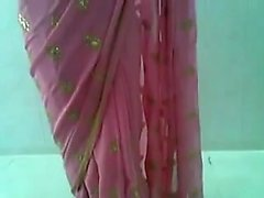 Adorable Indian Desi Woman in Fucking and Red Saree Drawing