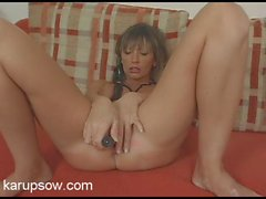 Milf boobs are hot on the toy fucking babe