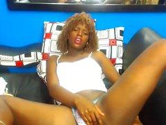Ebony MILF Masturbate Homemade