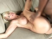 Stacked blonde mom has a black stallion fulfilling her sexual desires