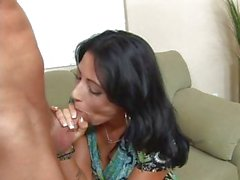 Beautiful MILF Zoe Holloway shows how she drains dick