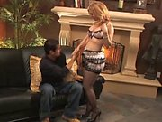 Blonde MILF in lingerie gets fucked good from behind