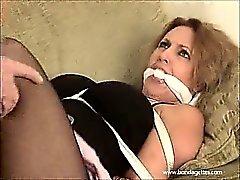 Blonde Milf in bondage