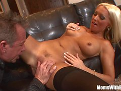 MILF Housewife Diana Doll Fucked In Sexy Stockings
