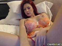 Sexy Redhead MILF Teasing on Webcam - Cams69 dot net