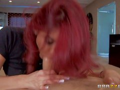 Red haired buxom MILF Ryder Skye takes dick hungrily