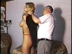 Weird large-breasted blonde certainly likes gonzo Control A