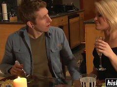 Amazing MILF seduces her daughter's boyfriend