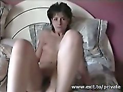 my ex wife Martina toying and cumming on my dick