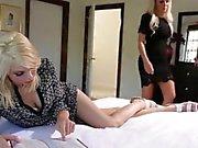 Innocent Nina Elle is seduced by slutty roommate Tara Morgan