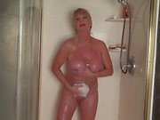 Mature Rae Hart party in the shower