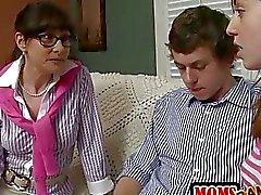 Strict stepmom Alexandera catches teens