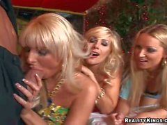 Lusty milfs Puma Diana and Emilianna pleasure Billy Glide