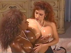 Joi Reno snogging the sapphic Safire