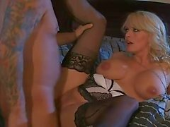 Milf decked out in lingerie laid lustily