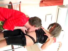 Christmas hardcore gangbang with Nesty fucked in old young