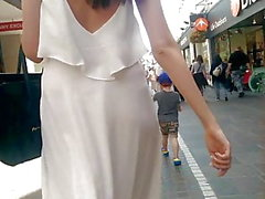 See through dress in street