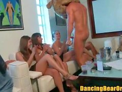 CFNM Blowbang with Strippers