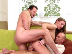 Morgan Moon Harddcore DP Threesome