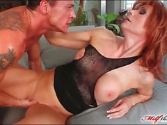 Milf redhead in sexy boots fucked