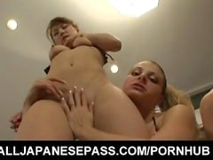 Mizuki Hana and dame fuck each other asses and slits with dildos