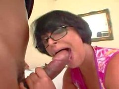 Milf with big ass in glasses butt fucked