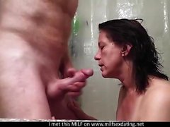 Wonderful blowjob with a MILF from Internet