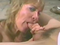 Naughty blonde wife toys all of her holes before sucking a cock
