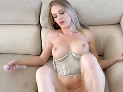 Busty MILF with aweosme body fucks really hard
