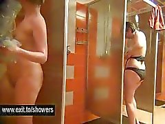 Housewives spied in a Public shower