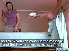 PublicAgent - Masseuse gives a happy end