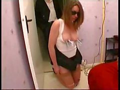 Housewife, Spanked By Her Husband In The Street