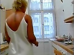 Housewife fucked in the kitchen