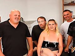 Amateur Ayla first gangbang party