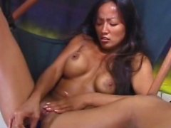 Hot cute asian masturbation and blowjob