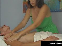 Big Boobed Milf Masseuse Charlee Chase Milks A Hard Cock!