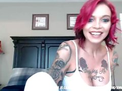 tattoed step mom fingering for fun... video