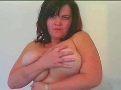 Chubby milf teases and takes younger man
