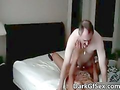 Nasty hot MILF ebony slut gets her