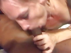 Deann Parker sucking the cum out of BBC