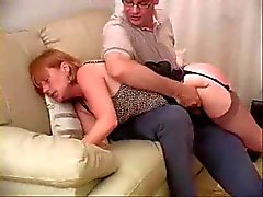 He spanks her hot ass until it is bright red